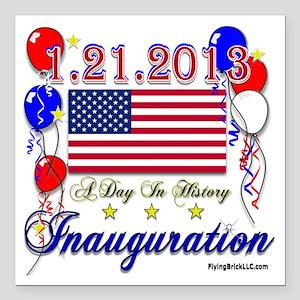"1-21-2013 Inauguration Square Car Magnet 3"" x 3"""