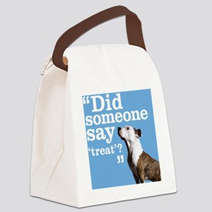 Treat Dog Canvas Lunch Bag