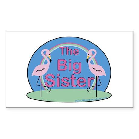Flamingos - The Big Sister Rectangle Sticker