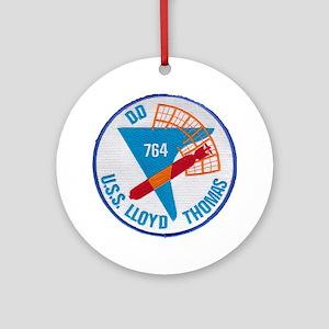 uss lloyd thomas patch transparent Round Ornament
