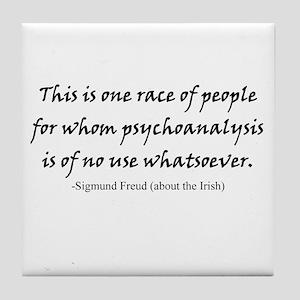 Freud and the Irish Tile Coaster