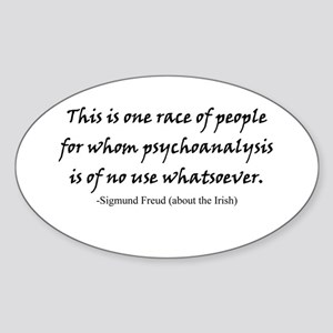 Freud and the Irish Oval Sticker