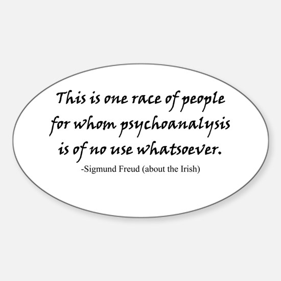 Freud and the Irish Oval Decal