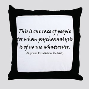 Freud and the Irish Throw Pillow