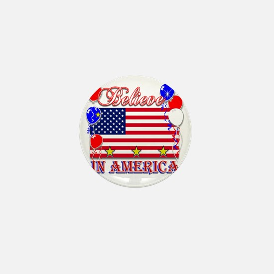 Believe In America Mini Button
