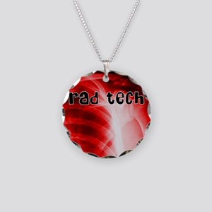 rad tech electronic skins Necklace Circle Charm