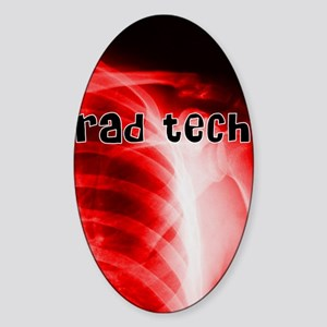 rad tech electronic skins Sticker (Oval)