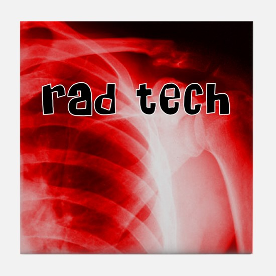 rad tech electronic skins Tile Coaster
