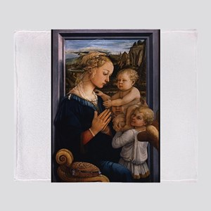 Madonna with child and two Angels - Lippi Throw Bl