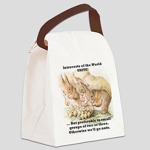 Introvert Squirrels Canvas Lunch Bag