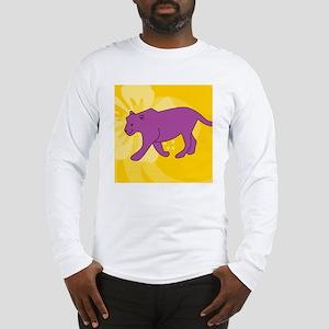 Panther Round Coaster Long Sleeve T-Shirt