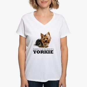 Blessed YORKIE MOM Women's V-Neck T-Shirt