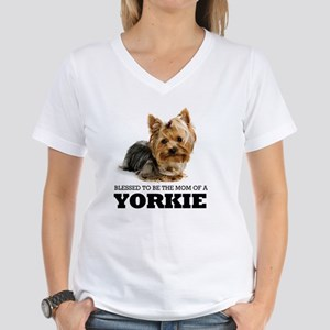 Blessed YORKIE MOM Women's V-Neck T-Shirt