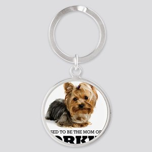 Blessed YORKIE MOM Round Keychain