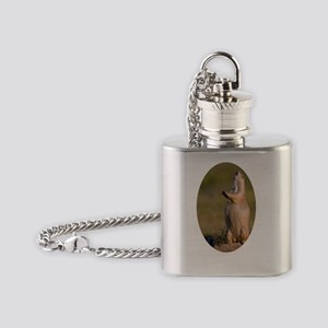 howling prairie dog Flask Necklace