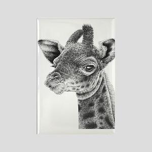 Giraffe Calf Power Bank Rectangle Magnet