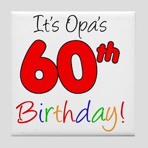 Opa 60th Birthday Tile Coaster