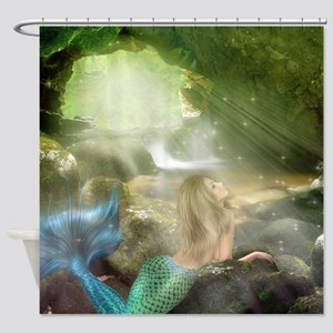 Mermaid Cave Shower Curtain