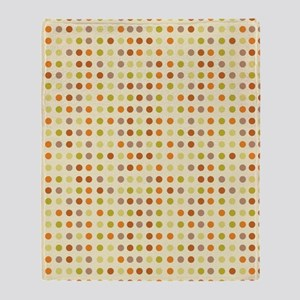Brown Stripes fall dots Throw Blanket