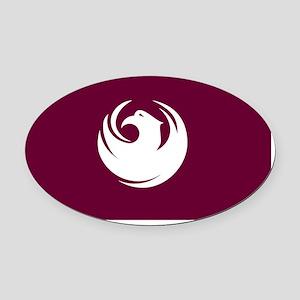 Phoenix Flag Oval Car Magnet