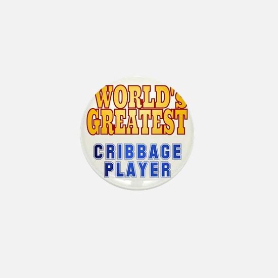 World's Greatest Cribbage Player Mini Button