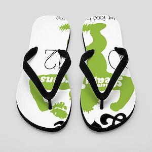 Love them Leafy Greens Flip Flops
