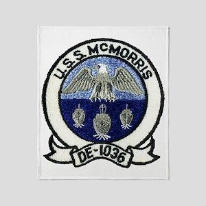 uss mcmorris atch transparent Throw Blanket