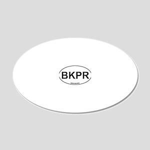 BKPR Beekeeper 20x12 Oval Wall Decal