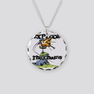 Disc Golf EXPLODE THE CHAINS Necklace Circle Charm