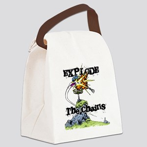 Disc Golf EXPLODE THE CHAINS Canvas Lunch Bag
