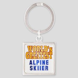 World's Greatest Alpine Skier Square Keychain