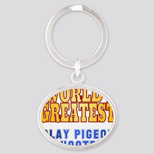 World's Greatest Clay Pigeon Shooter Oval Keychain