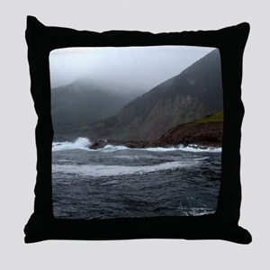 Morning Stormy seas off Cape Breton I Throw Pillow