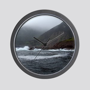 Morning Stormy seas off Cape Breton Isl Wall Clock