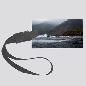 Morning Stormy seas off Cape Bre Large Luggage Tag