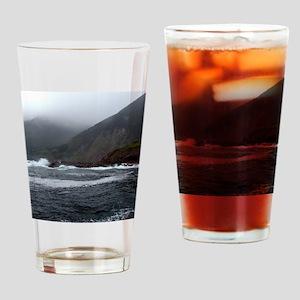 Morning Stormy seas off Cape Breton Drinking Glass