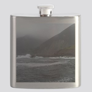 Morning Stormy seas off Cape Breton Island C Flask
