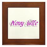 Navy Wife Framed Tile