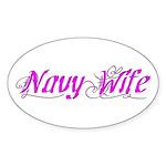 Navy Wife Oval Sticker