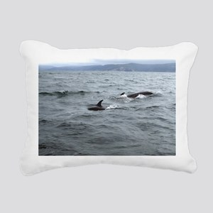 Pilot Whales off Cape Br Rectangular Canvas Pillow
