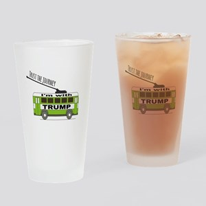 I'm with TRUMP Drinking Glass