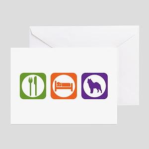 Eat Sleep Lapphund Greeting Cards (Pk of 10)