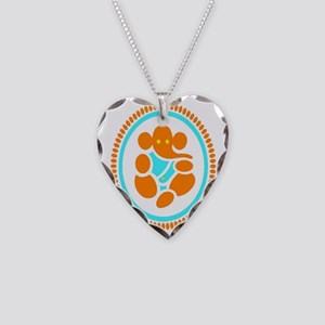 Multiple Sclerosis Ganesh Necklace Heart Charm