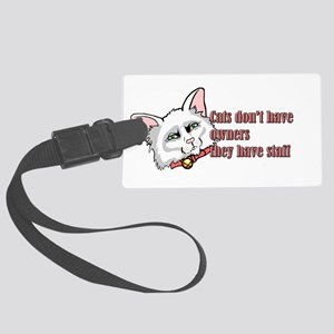 Snooty Cat Large Luggage Tag