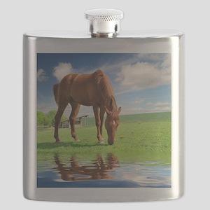 Grazing Horse Flask