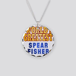 World's Greatest Spear Fishe Necklace Circle Charm