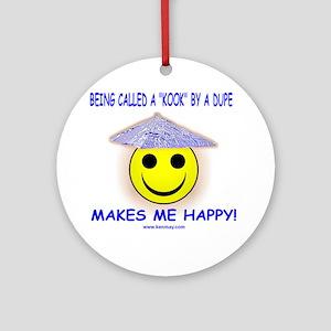 Happy Kook Round Ornament