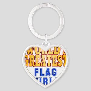 World's Greatest Flag Twirler Heart Keychain
