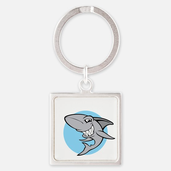 SHARK24 Square Keychain