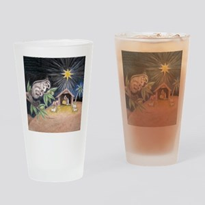 At the Manger Drinking Glass